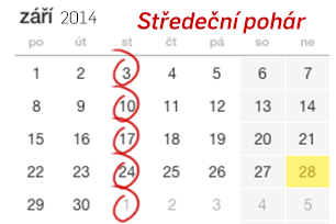 Středeční pohár 2014 - termíny